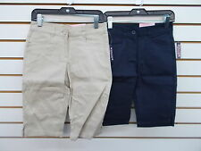 Girls Chaps Khaki or Navy Uniform Stretch Skimmer Shorts Size 7 - 12