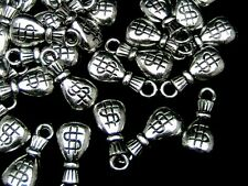 40 Pcs - Acrylic CCB Money Bag Charms 20mm Craft Jewellery Making Beading P153