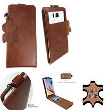 Phicomm Energy M+ - Smartphone Hülle Tasche Schutzhülle - Flip S Braun Leder