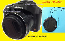 FRONT SNAP-ON LENS CAP DIRECT TO CAMERA PANASONIC LUMIX DMC-FZ28 FZ28K FZ18 FZ30