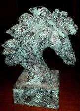Western Horse Head Statue Bust Cowboy Southwestern Table Home Decor Art