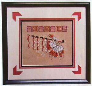 Ceremonial Pipe, CROSS STITCH PATTERN, Beautiful Native American Design