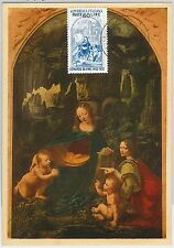 MAXIMUM CARD  - ART / RELIGION: Leonardo da Vinci - ITALY 1953 special postmark