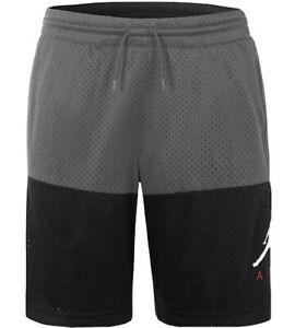 NWT NIKE Jordan Boys Jumpman Athletic Mesh Shorts Large  (L) Dark Gray BLACK