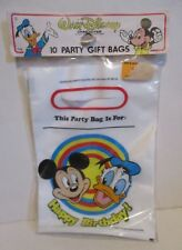 OLDER DISNEY MICKEY MOUSE DONALD DUCK BIRTHDAY PARTY PLASTIC LOOT BAGS CARROUSEL