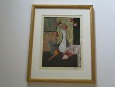 ANTIQUE VINTAGE MOD CUBIST CUBISM PAINTING EXPRESSIONIST SIGNED STILL LIFE PIPE
