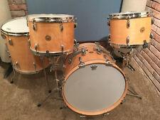 GRETSCH Round Badge 4-Pc Blonde Maple Lacquer Drum Set 12/13/16/20 60s Vtg