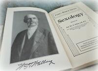 antique Sexology book 1912 by Wm H Walling M.D. vintage Victorian sex education
