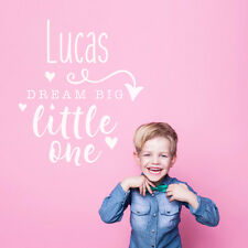 Personalise Custom Dream Big Little One Quote Bedroom Baby Boy Wall Sticker