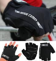 Summer Cycling Fingerless Gloves Mountain Bike Road Mesh Back Padded Palm Racing