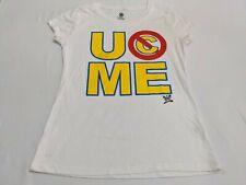 John CENA Women's Xl 15-17 White Graphic WWE Wrestler T-Shirt GUC