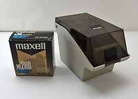 "5 Maxell 3.5"" Floppy Discs with Vintage Allsop Floppy Disc Holder Organizer"