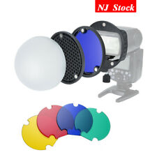 Magnet Dome Color Filter Reflector Honeycomb F Camera Flash Replace Ak-R1 S-R1