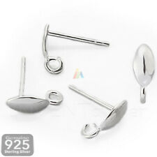 925 STERLING SILVER STUD POSTS with Open Jump Ring FOR JEWELLERY MAKING .424