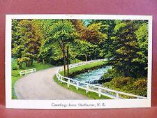 Postcard Canada Nova Scotia Shelburne Greetings from Shelburne #2