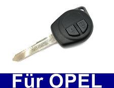 2 tasti auto chiave di Ricambio Chassis pezzo grezzo con tasti in gomma per Opel Agila