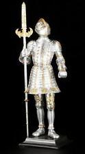 tamaño CABALLERO Figura 37cm de BASE CON ALABARDA - armadura Estatua Decorativa