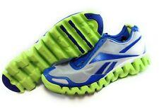 Mens Reebok Zig Tech Zigpulse 1-J19540 Grey Green Blue Sneakers Shoes NO LACES