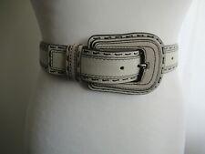 Karen Millen Beige Leather Belt, Size 1 ( 10-12)