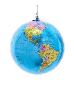 """Large GLOBE Planet Earth Christmas Ornament, 4"""" Diameter, by Kurt Adler"""
