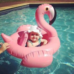 Baby Flamingo Inflatable Pool Float Baby Infant Flamingo Swim Ring Pool Float