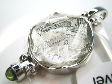 18MM NATURAL GIBEON METEORITE STAR OF DAVID 925 STERLING SILVER PENDANT