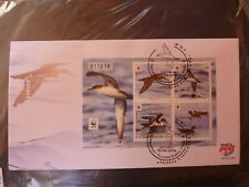 2016 MALTA ENDANGERED BIRDS 4 STAMP MINI SHEET FDC FIRST DAY COVER