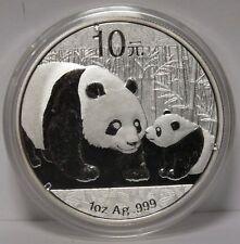 2011 China Chinese Panda 1 Oz .999 Silver 10 Yuan Coin - JX836