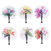 New Paper Hand Fan Plastic Handles Folding Wedding Party Favor Decoration FR