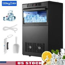 Commercial Ice Maker Stainless Built-in Bar Restaurant Ice Cube Machine 265lbs