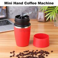 320CC Mini Outdoor Household Capsule Manual Hand Coffee Bean Maker Machine Red