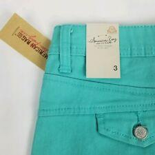 AMERICAN RAG CIE Turquoise Blue Stretch Denim Short Shorts Juniors Size 3