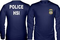 New Police Homeland Security Investigations Department Long T-Shirt