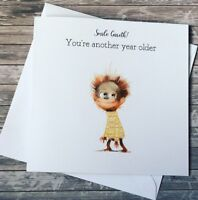 Smiley Monkey Birthday Card For boys/Men Handmade & personalised son/Dad/Brother
