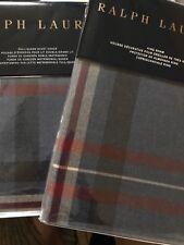 RALPH LAUREN Bentwood Plaid F/ Queen Duvet Cover, 1 King Sham, 1King Pillowcase