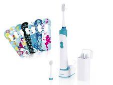 Kinder Akku SCHALLZAHNBÜRSTE 2-Minuten Timer Zahnbürste Schall-Technologie