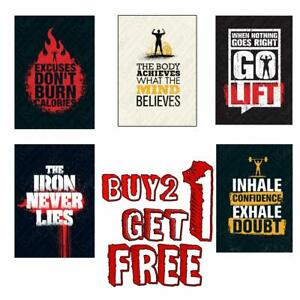 MOTIVATIONAL GYM POSITIVE INSPIRATIONAL QUOTE  PRINT POSTER A4 A3 BUY 2GET1 FREE