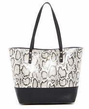 NEW Cole Haan Small Beckett Snakeskin, Python Embossed Leather Tote Bag $250