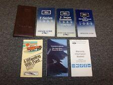 1989 Ford F250 F350 F450 F550 F-Series Owner Owner's Operator Manual Set 7.3L