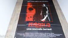 VENDREDI 13  jason : chap.5  Friday the 13th, Part V ! affiche cinema horreur