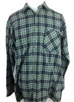 AUZINGER Mens Size EU 41 US Large Long Sleeve Button Front Shirt Plaid Flannel