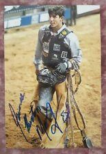 JB Mauney Professional Bull Riding PBR Autographed Photo #38 RARE FULL NAME AUTO