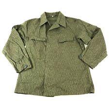 East German Strichtarn, Rain Camo, Uniform Top, Cold War Era Shirt, Size G48