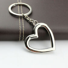 Cute Peach heart Keychain Key Ring Metal Pendant Kid Gift Present
