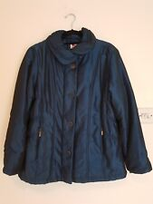 Wilkies Womens Jacket Size 14 Smart Metalic Blue With Pockets *In Very Good Cond
