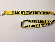FLIGHT INSTRUCTOR AVIATOR CFI CFII MEI LANYARD ID Neck Strap, Safety Release