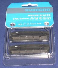 FULL SET SHIMANO S70C XTR, XT, LX, DEORE V- BRAKE SHOE CARTRIDGE INSERT