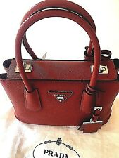 NWT Authentic Prada BN2823 Bag - F068Z Fuoco (Red) Saffiano Cuir Leather Tote
