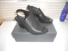 New Eileen Fisher ~ Art to Wear ~ Black Glance Slingback Booties ~ 8 M