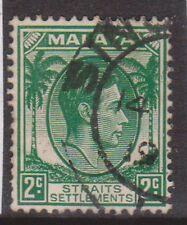 (K109-125) 1937 Malaya 2c green KGVI (EL)
